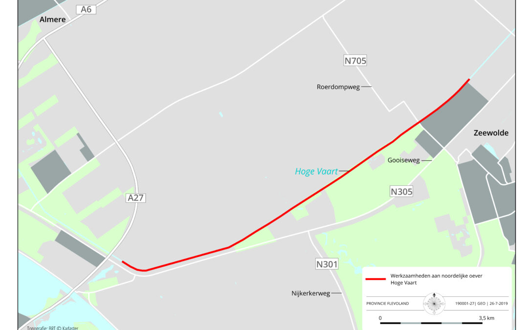 Werkzaamheden Hoge Vaart Almere-Zeewolde