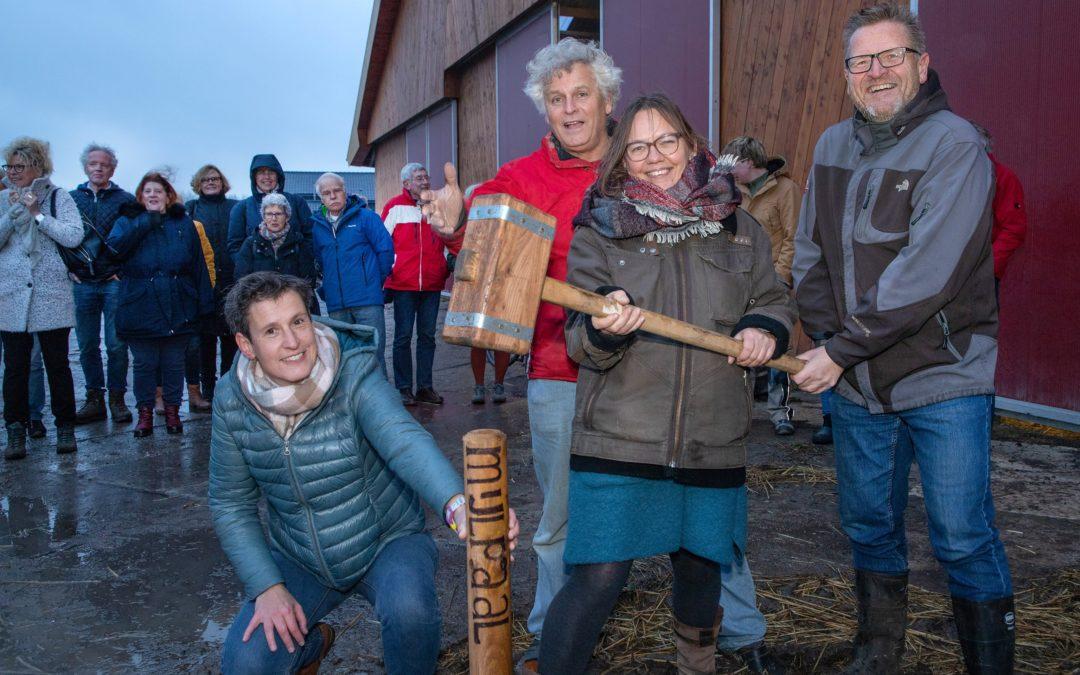 Start bouw 1e biologische boederijwinkel Odin bij Stadsboerderij Vliervelden