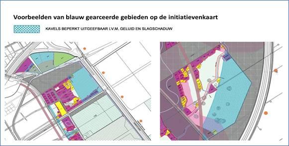 Voorbeelden van blauw gearceerde gebieden op de initiatievenkaart