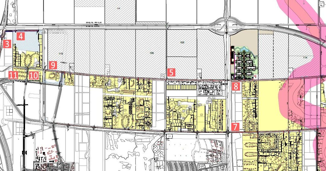 Planning van werkzaamheden in Oosterwold